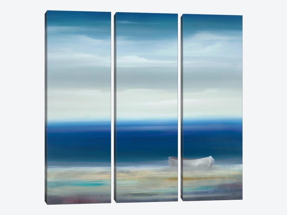 Boat On Shore by KC Haxton 3-piece Canvas Artwork