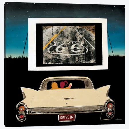 Drive In Canvas Print #HAX4} by KC Haxton Art Print