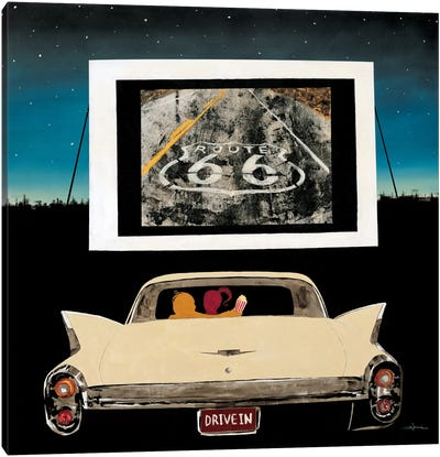 Drive In Canvas Art Print