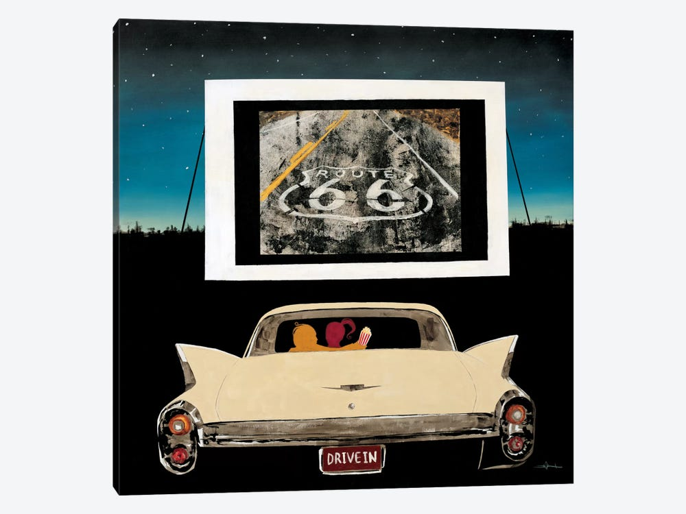 Drive In by KC Haxton 1-piece Canvas Art Print