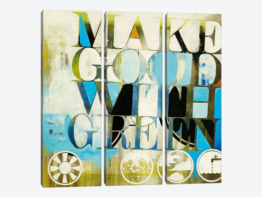 Good Morning by KC Haxton 3-piece Canvas Print