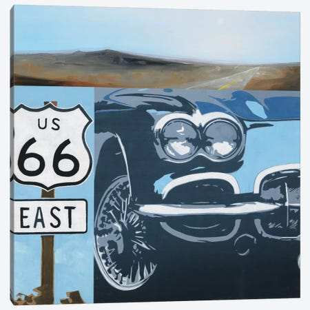 Route 66-A Canvas Print #HAX9} by KC Haxton Canvas Art