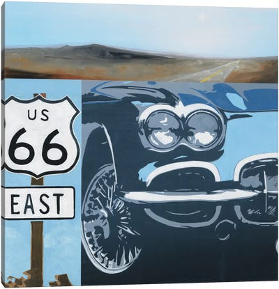 Route 66-A Canvas Art Print