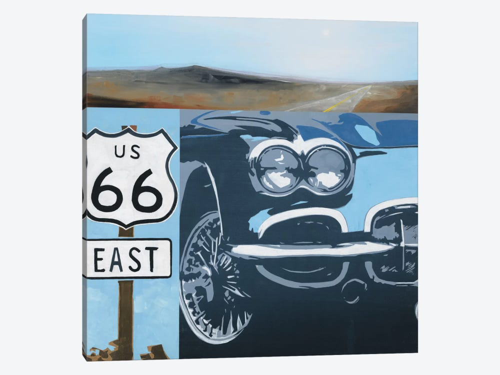 Route 66-A by KC Haxton 1-piece Canvas Artwork