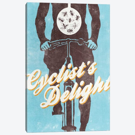Cyclist's Delight Canvas Print #HBE1} by Hannes Beer Canvas Art Print