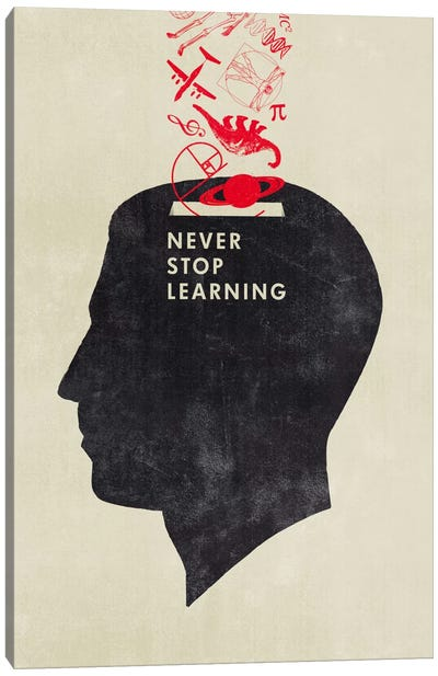 Never Stop Learning Canvas Art Print