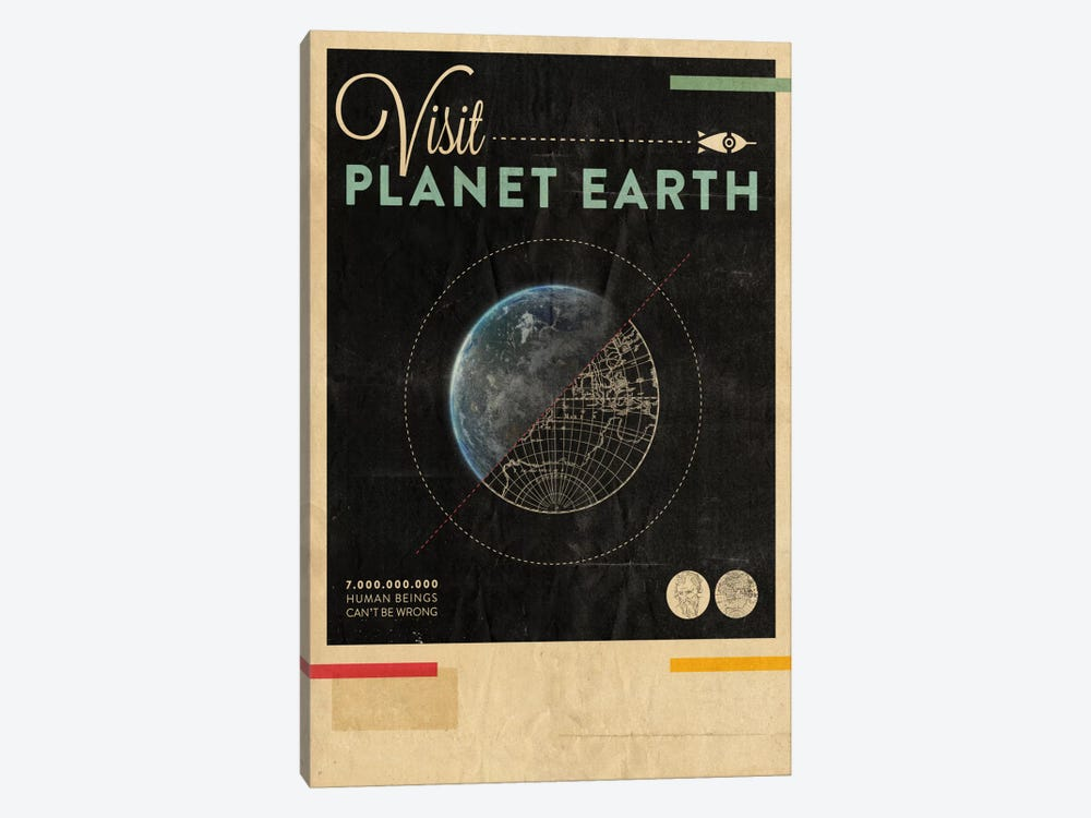Visit Planet Earth by Hannes Beer 1-piece Art Print