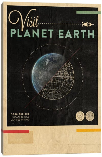 Visit Planet Earth Canvas Art Print
