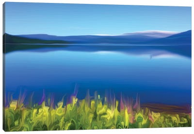 Norway Fjord Oil Canvas Art Print