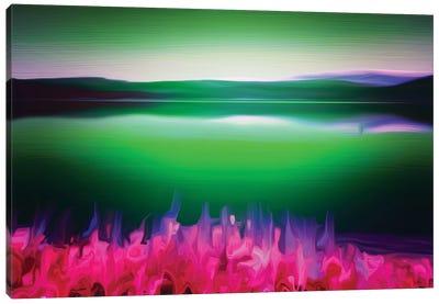 Norway Green Canvas Art Print