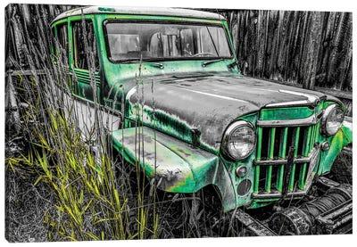 Willys Green Canvas Art Print
