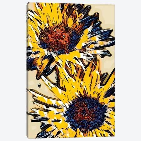 Blue & Yellow Pop Canvas Print #HBN3} by Heidi Bannon Canvas Wall Art