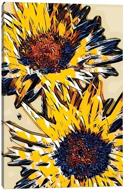 Blue & Yellow Pop Canvas Art Print