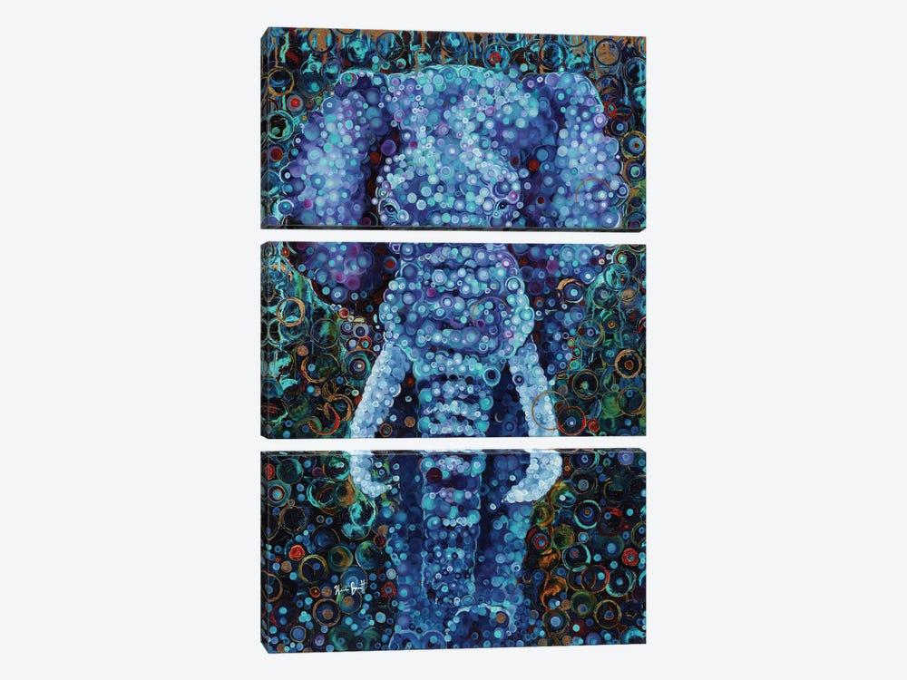 Elephant by Heidi Barnett 3-piece Canvas Wall Art