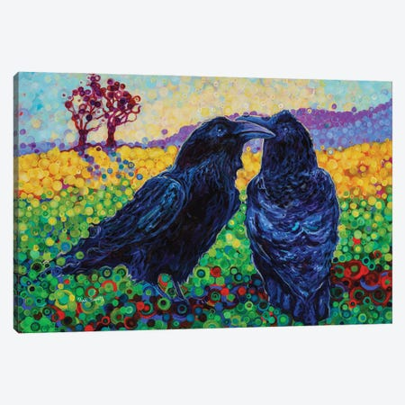 Let's Fly Away Together Canvas Print #HBT16} by Heidi Barnett Canvas Print