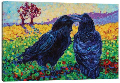 Let's Fly Away Together Canvas Art Print