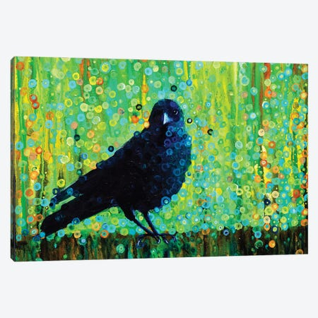 Mother Crow Canvas Print #HBT18} by Heidi Barnett Canvas Wall Art