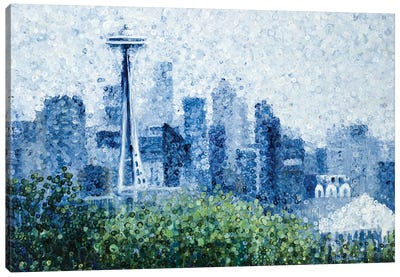 Seattle Rain Canvas Art Print