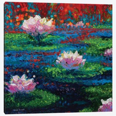 Water Lilies Canvas Print #HBT28} by Heidi Barnett Canvas Art Print