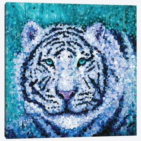 White Tiger Canvas Print #HBT29} by Heidi Barnett Canvas Print