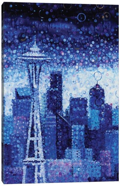 Seattle Evening Canvas Art Print