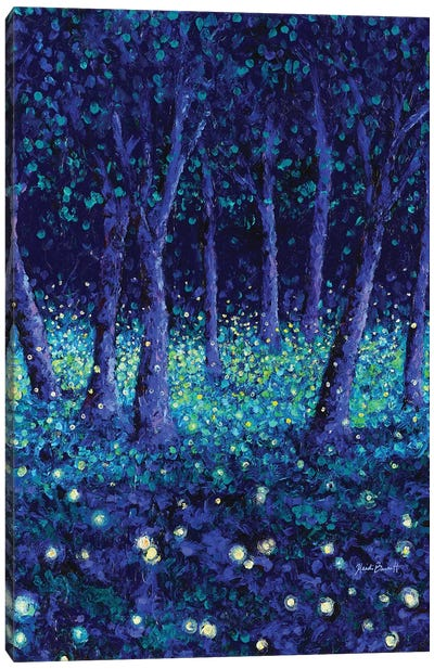 Dancing Fireflies Canvas Art Print