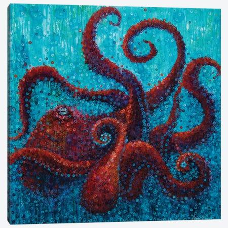 Red Octopus Canvas Print #HBT50} by Heidi Barnett Canvas Art