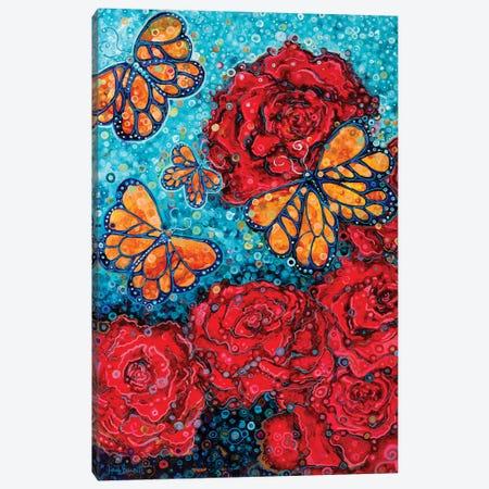 Butterflies And Roses Canvas Print #HBT5} by Heidi Barnett Canvas Art