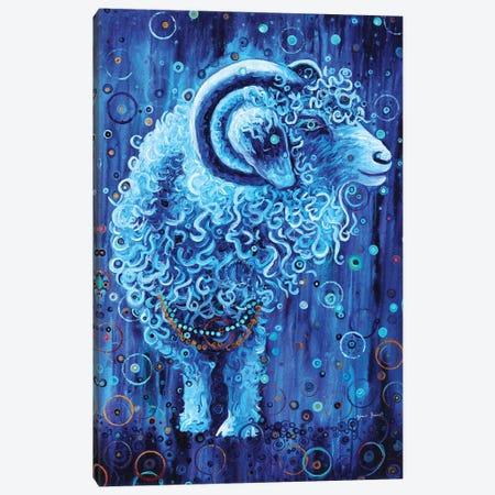 Cosmic Goat Canvas Print #HBT6} by Heidi Barnett Canvas Wall Art