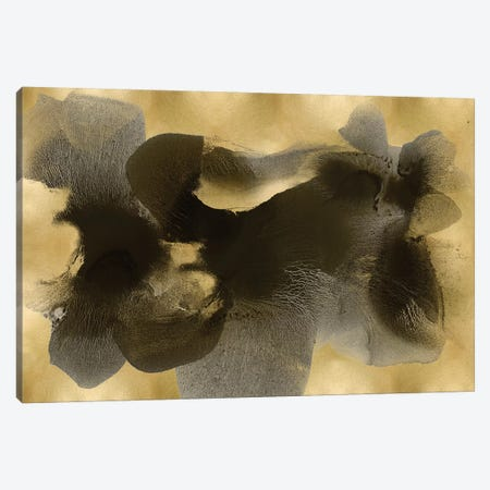 Black On Gold I Canvas Print #HCA21} by Hannah Carlson Canvas Art Print