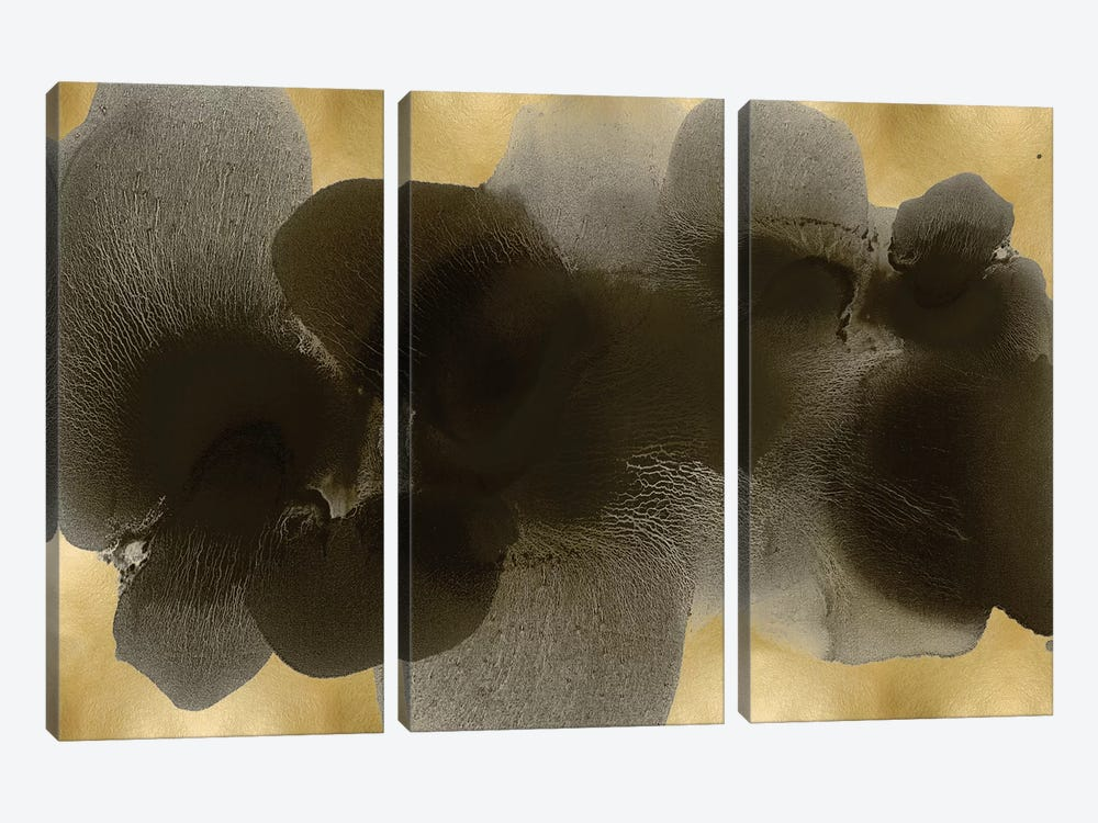 Black On Gold II by Hannah Carlson 3-piece Canvas Print