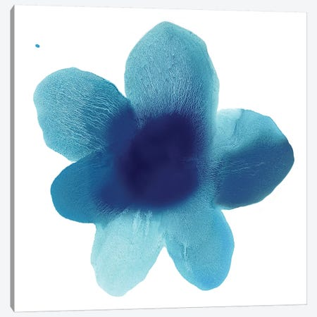 Blue Bloom I 3-Piece Canvas #HCA23} by Hannah Carlson Canvas Art Print