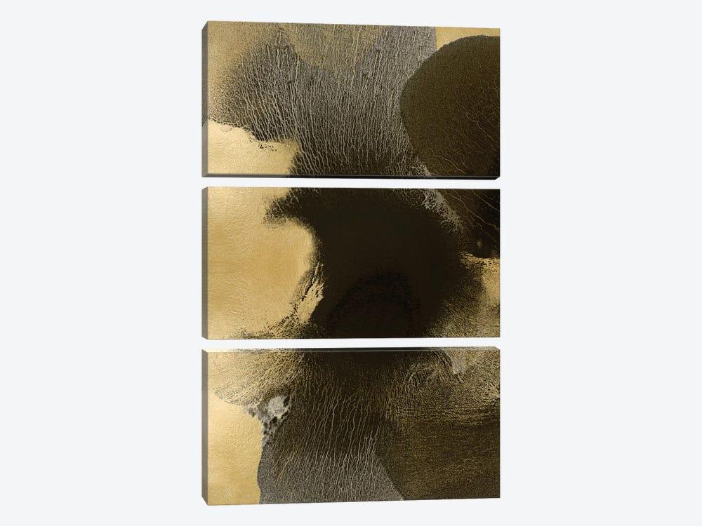 Circulate Gold I by Hannah Carlson 3-piece Canvas Art