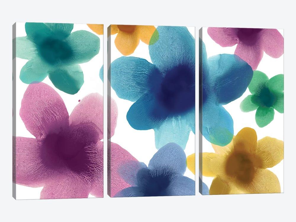 Floral Blooms IX by Hannah Carlson 3-piece Canvas Art