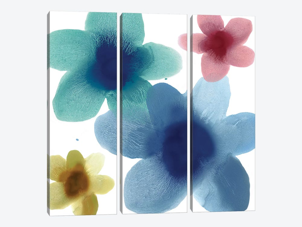 Floral Blooms V by Hannah Carlson 3-piece Canvas Wall Art