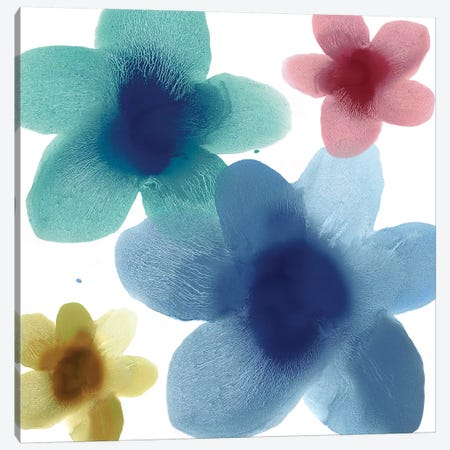 Floral Blooms V Canvas Print #HCA34} by Hannah Carlson Canvas Art Print