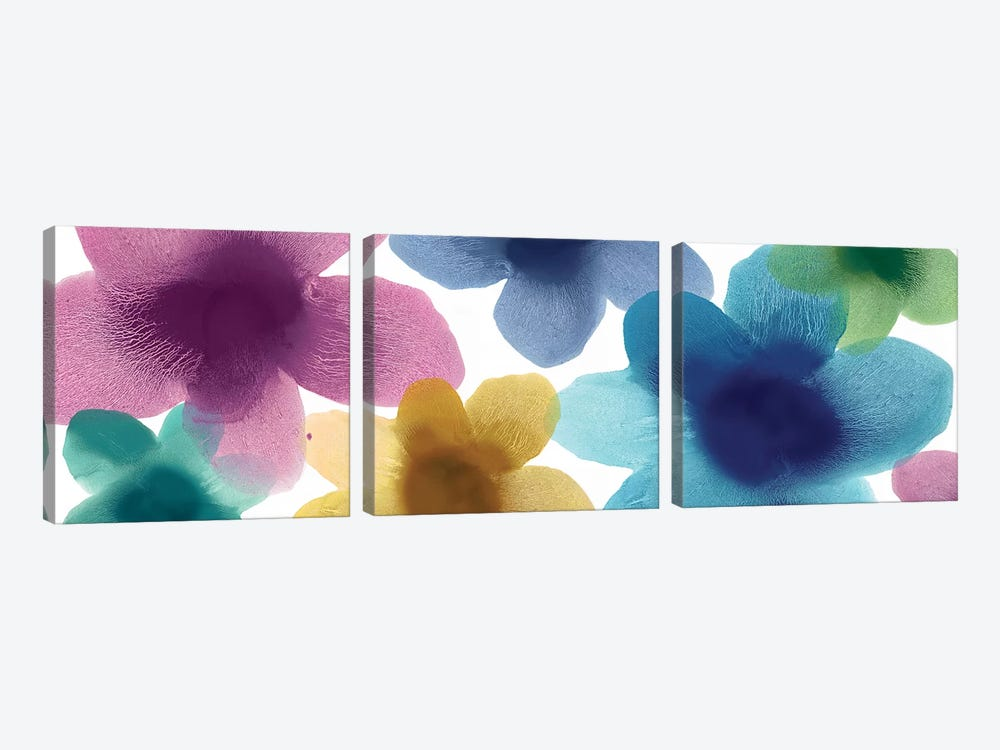 Floral Blooms VIII by Hannah Carlson 3-piece Art Print