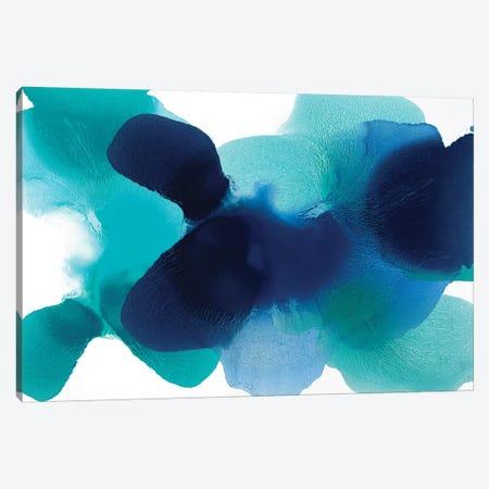 Free Form Blues Canvas Print #HCA39} by Hannah Carlson Canvas Artwork