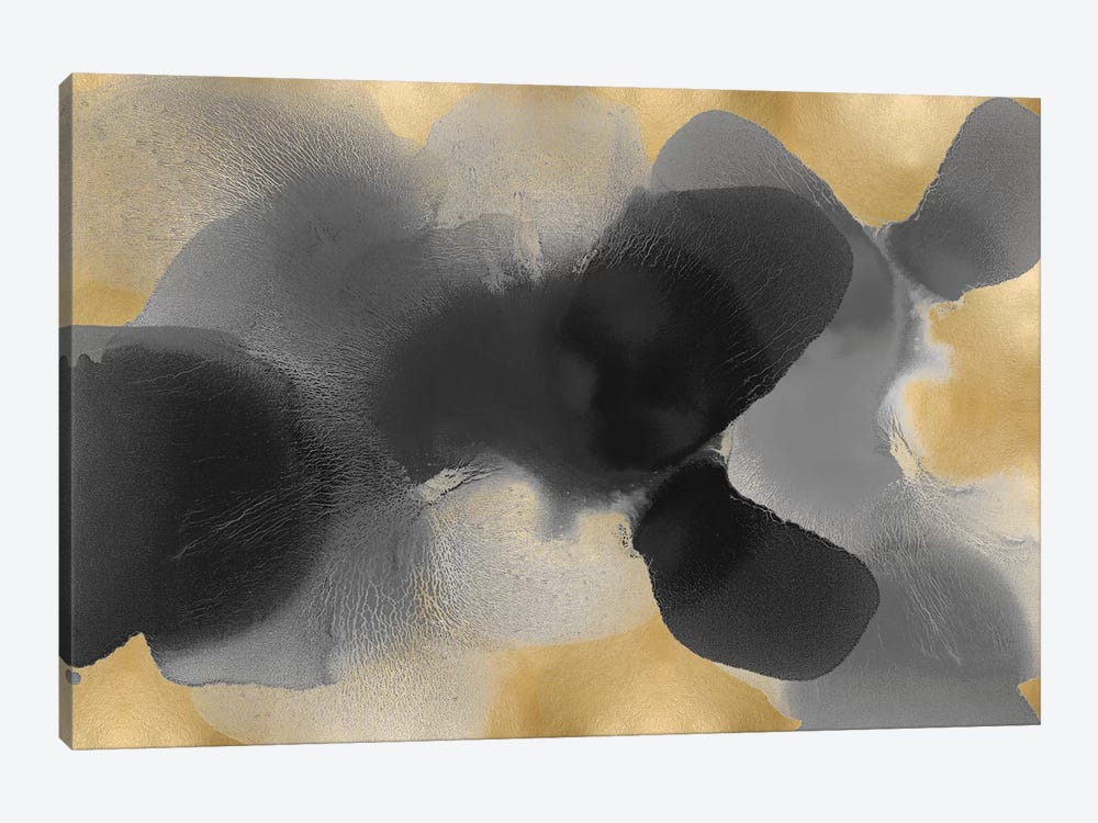 Free Form Gray On Gold I by Hannah Carlson 1-piece Art Print