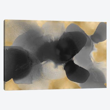 Free Form Gray On Gold I Canvas Print #HCA42} by Hannah Carlson Canvas Print