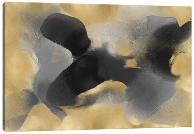 Free Form Gray On Gold II Canvas Art Print