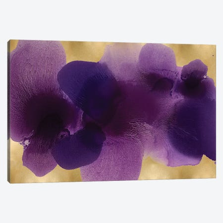 Free Form Purple On Gold Canvas Print #HCA44} by Hannah Carlson Canvas Wall Art