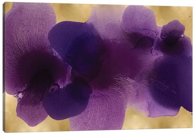 Free Form Purple On Gold Canvas Art Print