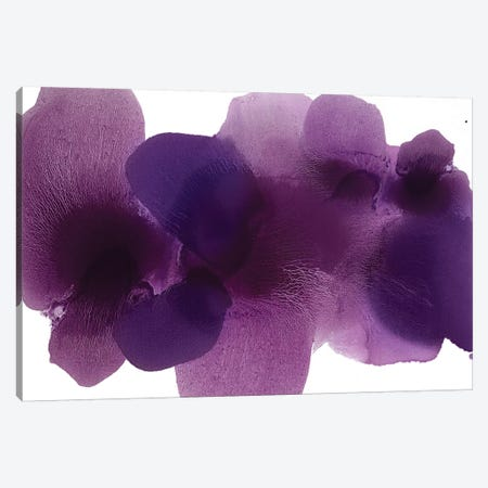 Free Form Purple On White Canvas Print #HCA45} by Hannah Carlson Canvas Artwork