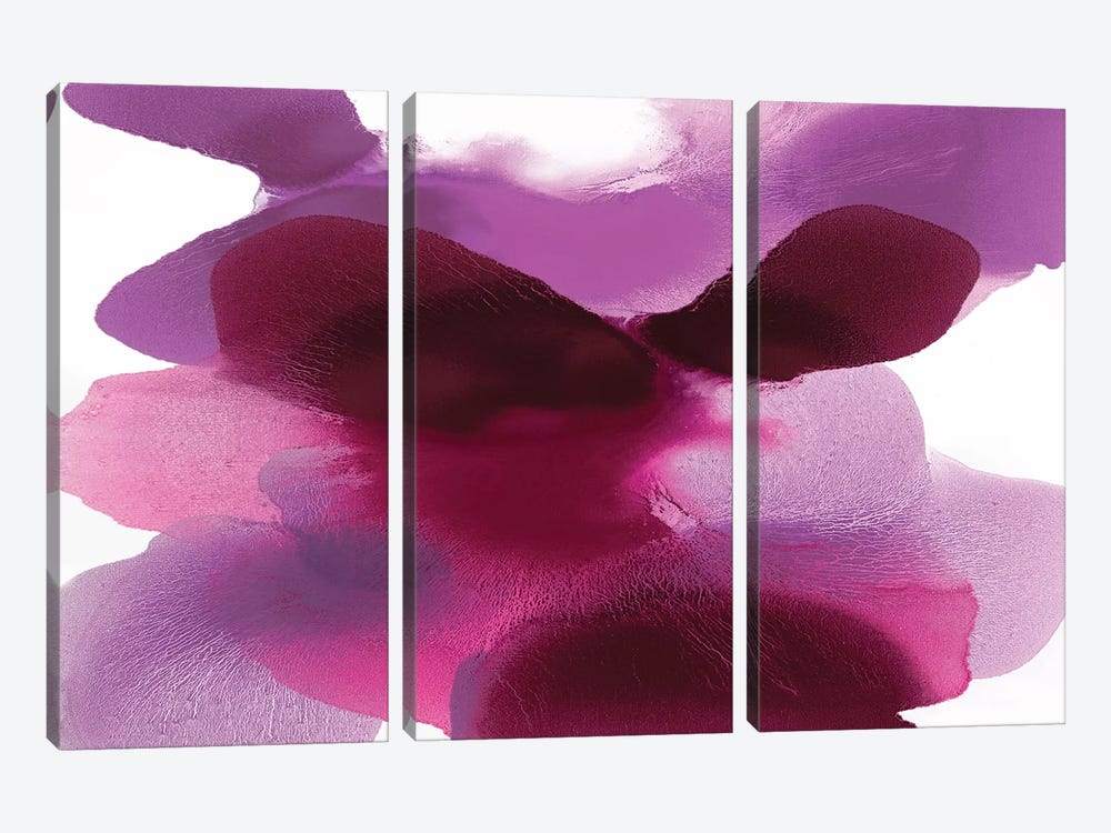 Magenta Drift by Hannah Carlson 3-piece Canvas Print