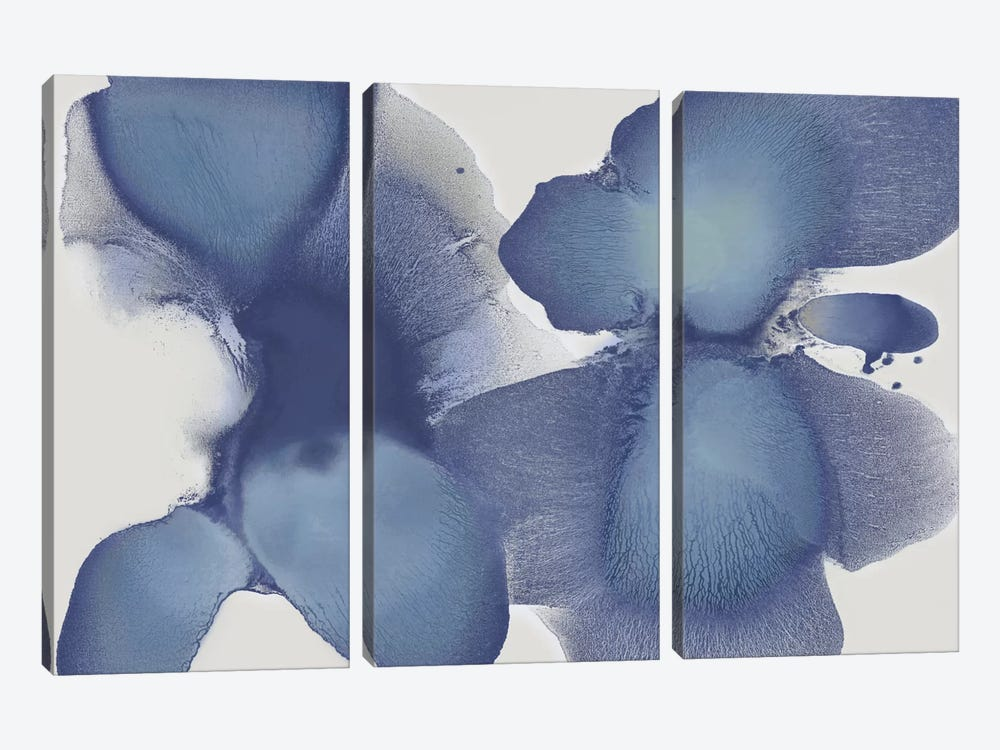 Animate Indigo II by Hannah Carlson 3-piece Canvas Print