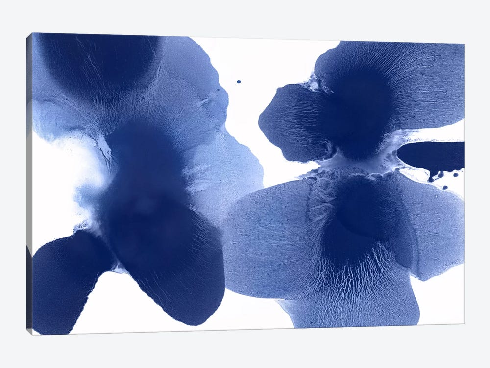 Dynamic Indigo by Hannah Carlson 1-piece Canvas Artwork