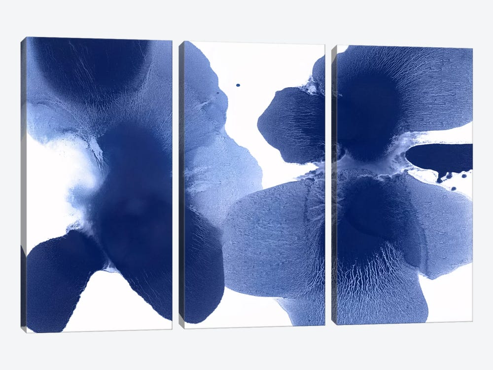 Dynamic Indigo by Hannah Carlson 3-piece Canvas Artwork