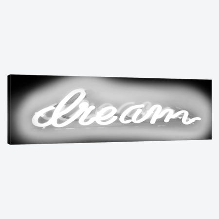 Neon Dream New White On Black Canvas Print #HCR33} by Hailey Carr Canvas Print