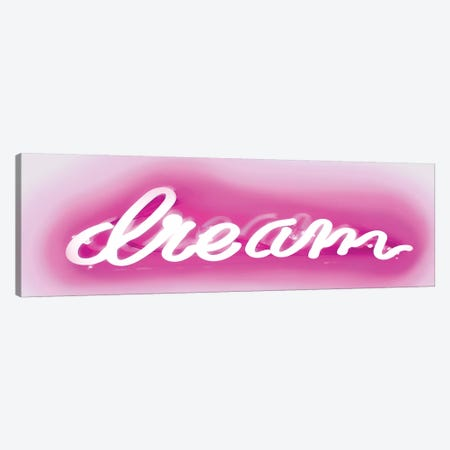 Neon Dream Pink On White Canvas Print #HCR35} by Hailey Carr Canvas Wall Art